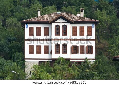 traditional house ottoman in old village of Safranbolu, Turkey - stock photo