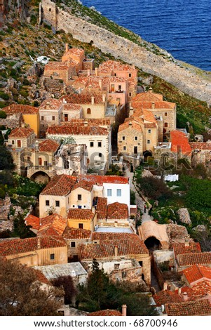 Traditional houses in Monemvasia