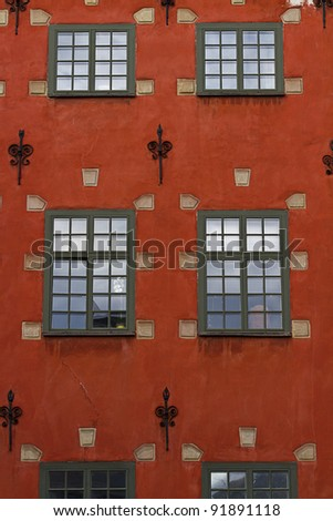 traditional houses in Stockholm Sweden - stock photo