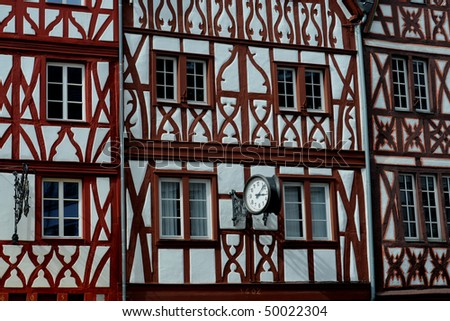 Traditional Houses In Trier Germany