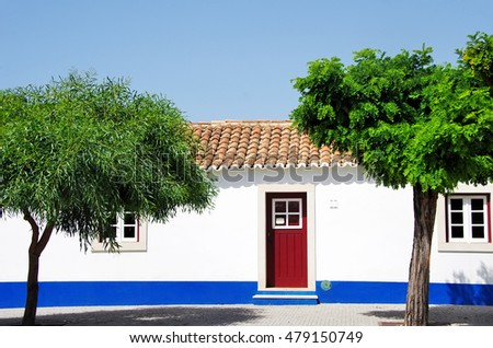 Traditional houses of the coast of the Alentejo.
