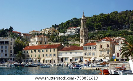 traditional houses on hvar island in croatia