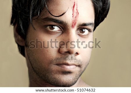 Traditional indian boy - stock photo