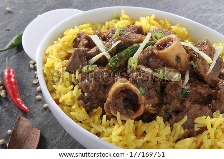 Traditional Indian Lamb curry - stock photo