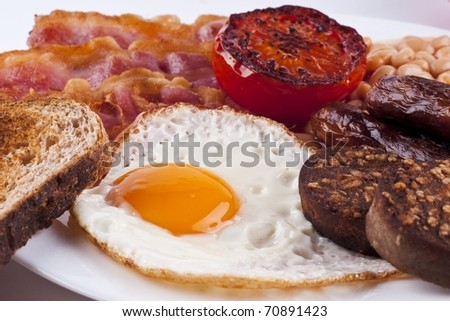 traditional irish breakfast - stock photo
