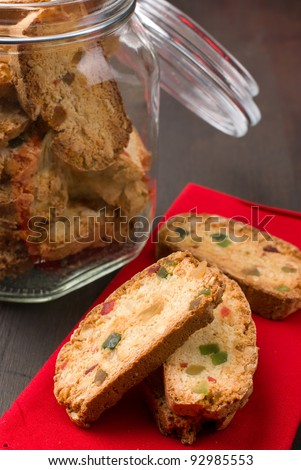 Traditional italian biscuits - stock photo