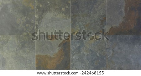 Traditional Italian gray granite wall tiles texture - stock photo