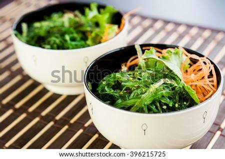 Traditional Japanese Chuka Wakame seaweed salad  - stock photo