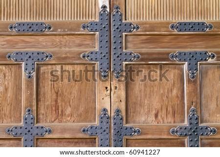 Traditional Japanese door. - stock photo