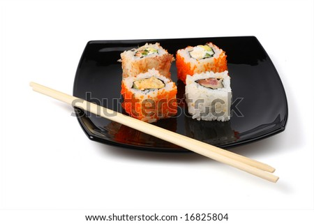 Traditional Japanese food roll