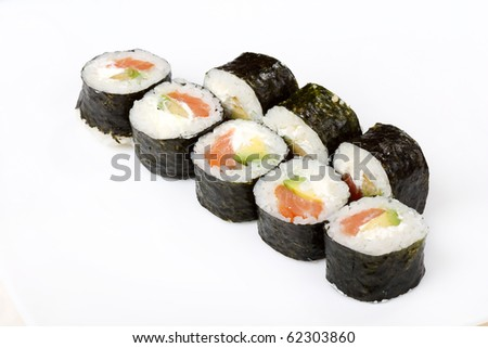 Traditional Japanese food Sushi