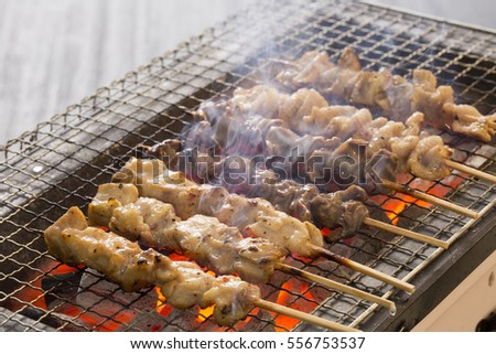 Traditional Japanese grilled chicken