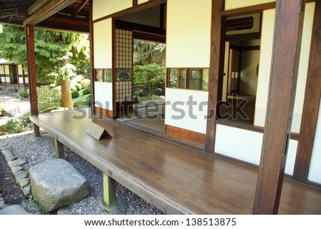 Traditional japanese house - stock photo