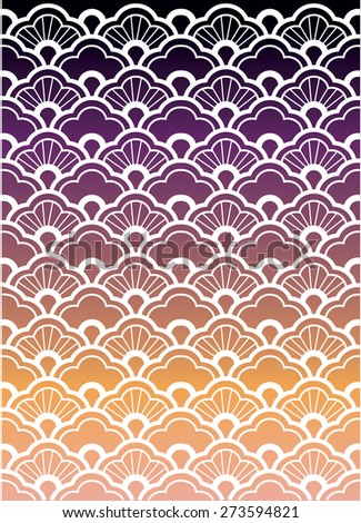 Traditional japanese ornamental pattern - stock photo