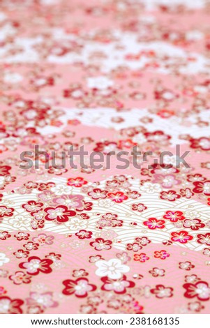 Traditional Japanese pattern paper - stock photo