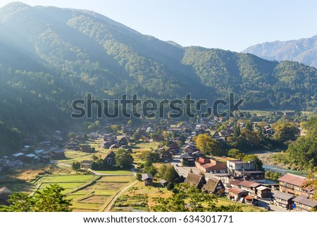 Traditional Japanese Shirakawago village
