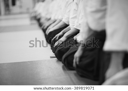 Traditional Japanese sitting posture - stock photo