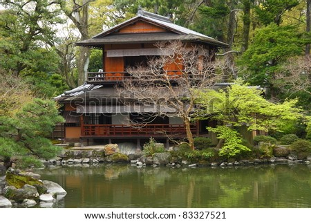 Traditional Japanese temple - stock photo