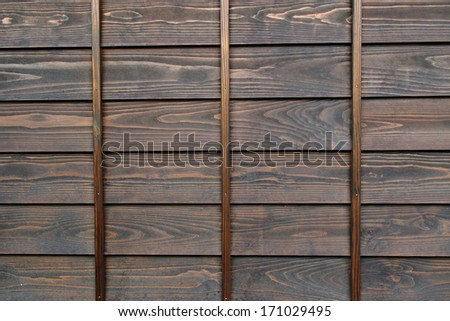 Traditional Japanese Wooden wall  - stock photo