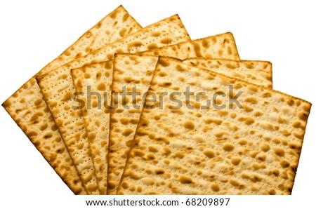 Traditional Jewish Matzo sheet useful as background - stock photo