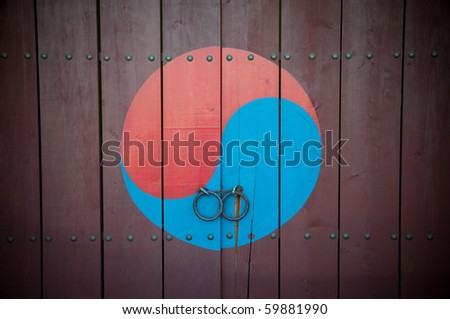 Traditional Korean door.