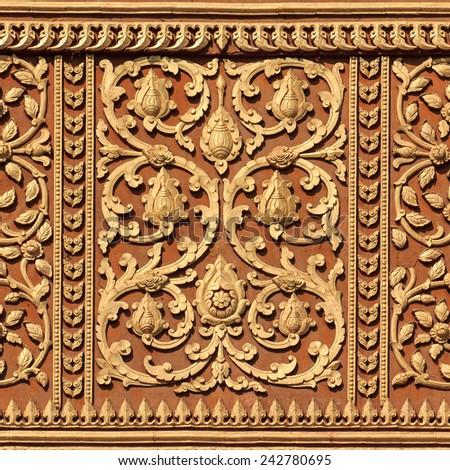 Traditional Laos style art - stock photo
