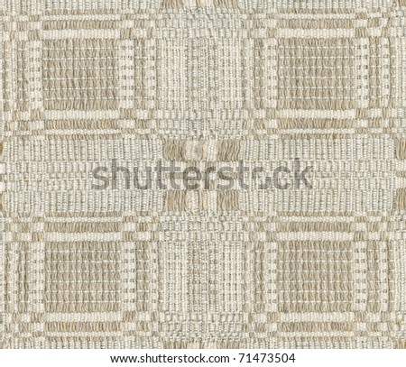 Traditional lithuanian handmade linen weave texture - stock photo