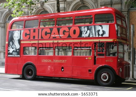 Traditional London Bus - stock photo