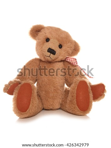 traditional looking teddy bear cutout