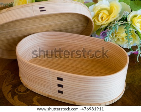 Traditional lunch box using the cedar of Japan