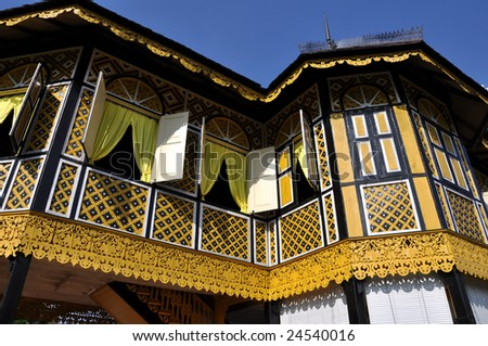 Traditional malay architecture - stock photo