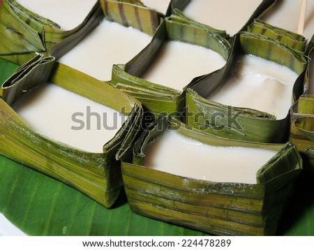 Traditional Malaysian dessert: tepung pelita       - stock photo