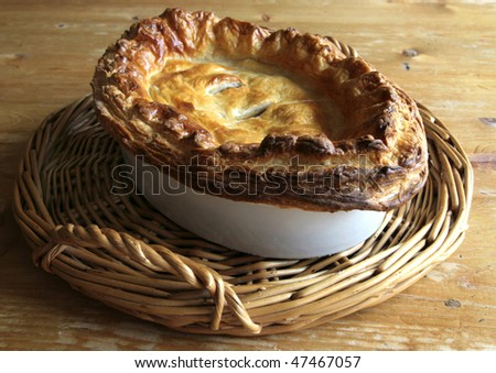 Traditional Meat Pastry Pie - stock photo