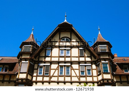 Traditional medieval german house facade