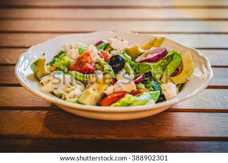 Traditional Mediterranean Greek salad