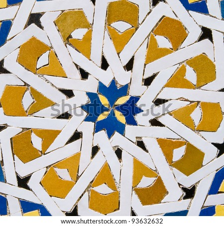 Traditional Moroccan colorfur tile pattern