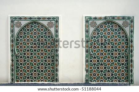 Traditional moroccan pattern, Morocco, Rabat - stock photo