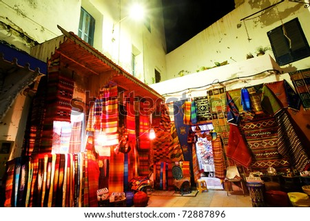 Traditional moroccan shop in Essaouira, Africa