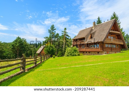 Mountain house stock images royalty free images vectors for House on a mountain
