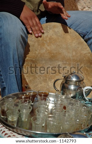 Traditional music during tea time - stock photo