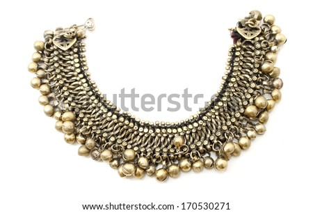 Traditional necklace of the Kadazan tribe in Sabah, Borneo, Malaysia - stock photo