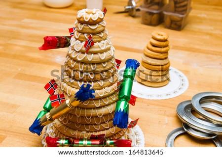 Pin Traditional Kransekake With Flags Cake on Pinterest