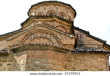 Traditional old Byzantine monastery at Meteora, Greece