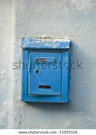 Traditional old postbox - stock photo