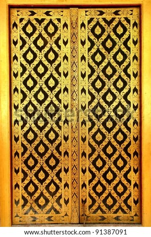 traditional old Thai door  sc 1 st  Shutterstock & Traditional Old Thai Door Stock Photo (Royalty Free) 91387091 ...