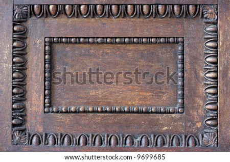 Traditional ornament decoration on wood from a Greek orthodox church