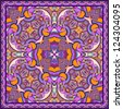 Traditional ornamental floral paisley bandanna. You can use this pattern in the design of carpet, shawl, pillow, cushion, raster version - stock photo