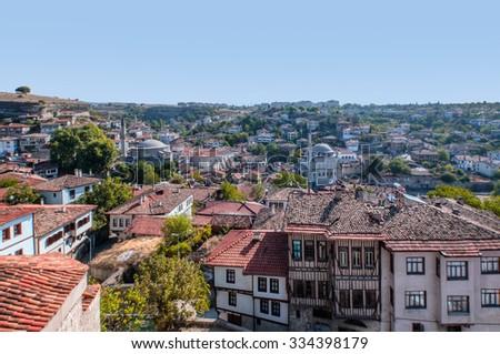 Traditional ottoman houses in Safranbolu, Turkey - stock photo