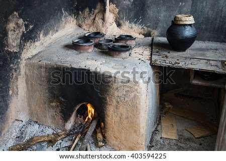 Traditional oven used to make rose water in Jabalpur Al Ahkdar, Oman