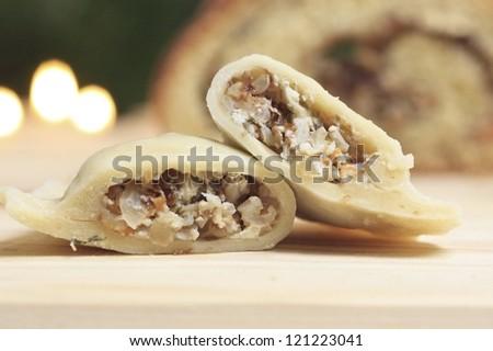 Traditional polish dumplings - stock photo